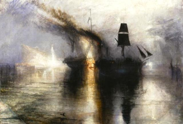 Burial at Sea. (Late Turner)
