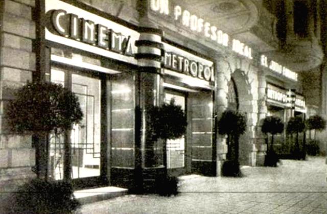 Cinema Metropol, de Barcelona, año 1933.