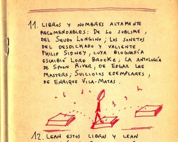 De un cuaderno de Roberto Bolaño (10 consejos sobre el cuento)