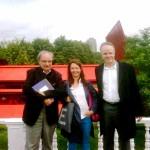 Con Dominique Gonzalez-Foerster y Hans  Ulrich Olbrist. London 14-08-10