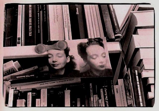 Detalle de la librería de V-M en la Travesera de Dalt.