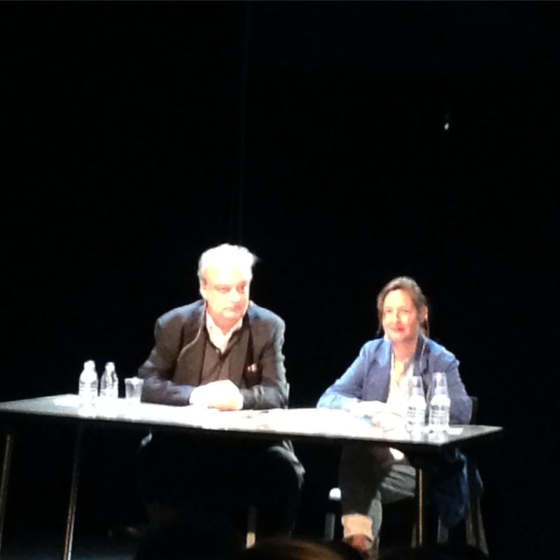 Conversación d euna hora de duración de Vila-Matas y Dominique Gonzalez-Foerster en la Petite Salle de le Beaubourg, París, 23 septiembre 2015.